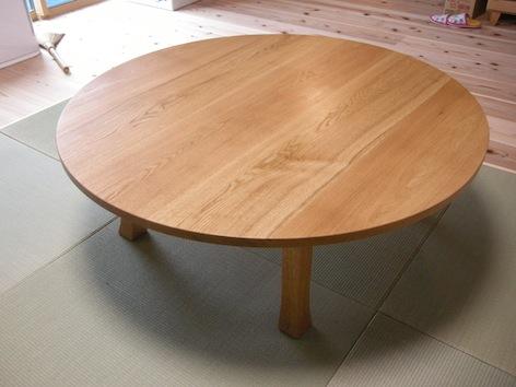 栃木県茂木町のお客様へ、ナラのローテーブルをお届け