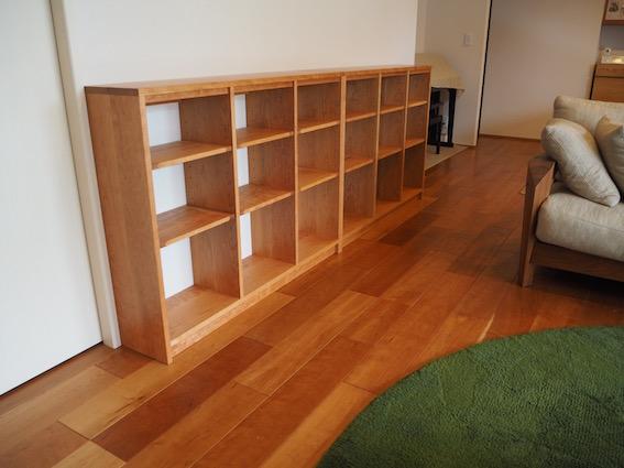 栃木県のお客様へお届けしたチェリーの本棚
