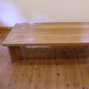 ナラの座卓