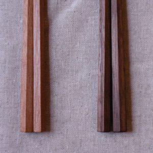 五角箸 チェリー 黒檀