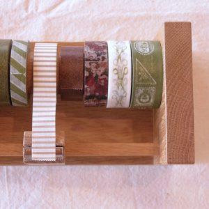 木のマスキングテープカッター