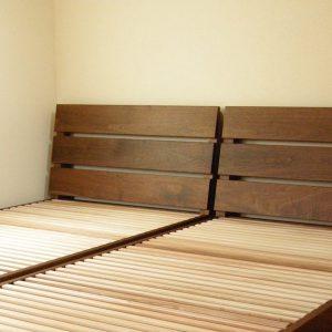 ウォールナットのベッド