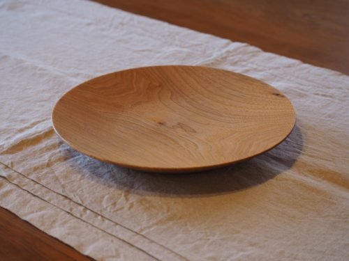 7寸 丸皿 クルミ