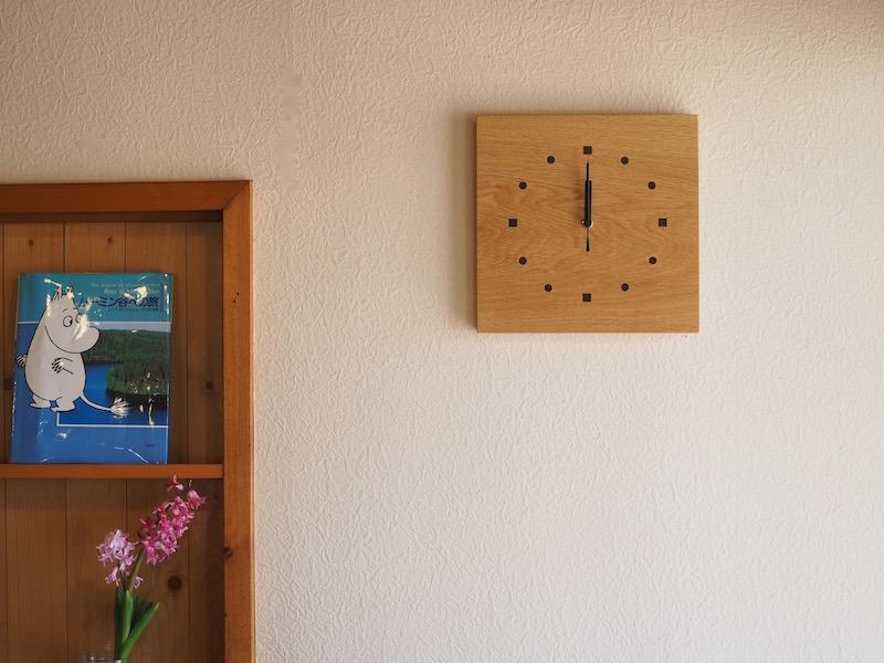 木の時計 四角 ナラ