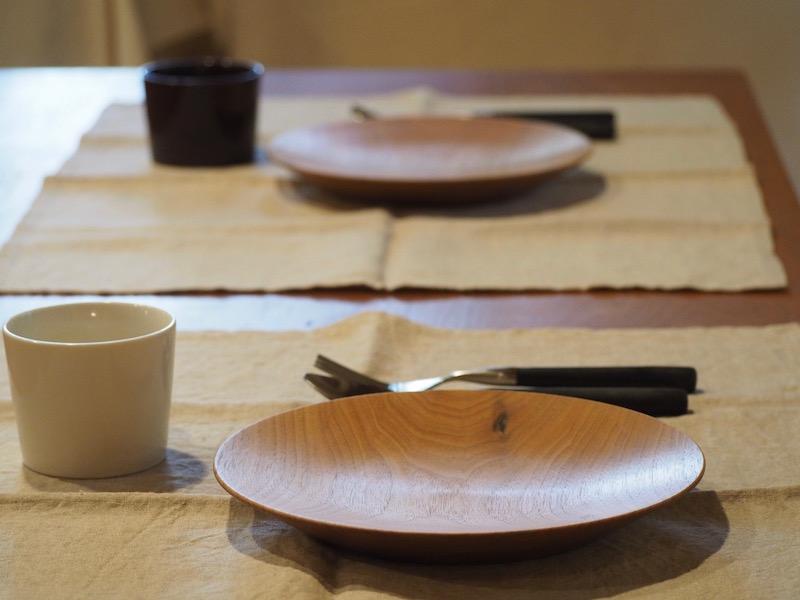 クルミの丸皿