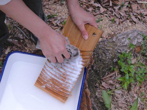 木の洗濯板