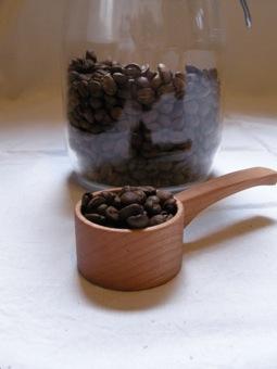木のコーヒーメジャー